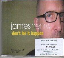 (BM402) James Henry, Don't Let It Happen - 2011 DJ CD
