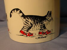Vintage B. Kliban Cat Ice Bucket Cat With Sneakers
