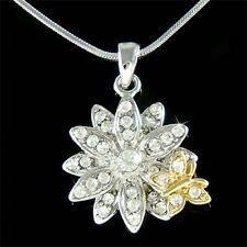 w Swarovski Crystal Mother Flower Floral Friend Butterfly Charm Pendant Necklace