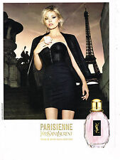 PUBLICITE ADVERTISING 054   2010  YVES SAINT LAURENT parfum LA PARISIENNE K.MOSS