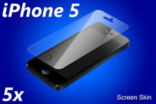 Apple iPhone 5 Screen Protectors 5x with Cleaning Cloth! Clear Anti-UV!