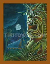 Hawaii Ku Tiki Magazine Cover Art Lowbrow Pop Polynesian Tiki Bar Man Cave Print