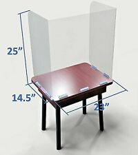 Plexiglas Sneeze Guard Desk Shield for Classroom Clear Vinyl PVC Student Cover