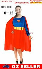 New Supergirl Superhero Superwoman Woman Super Hero Fancy Dress Costume COS6