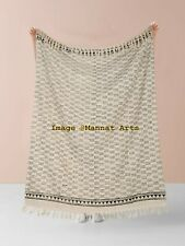 Cotton Throw Blanket Soft Handmade Bedspread Beach Towel Mud cloth Bed cover
