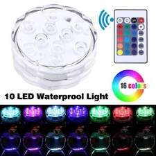 Waterproof RGB LED Underwater Fountain Light Swimming Pool Fish Tank Aquarium