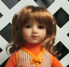 "Monique Doll Wig ""Darling"" Size 10/11 - Golden Auburn Synthetic Mohair New!"