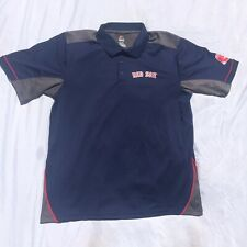 Boston Red Sox MLB Majestic Victory Anthem Navy Synthetic Polo Shirt Mens XL