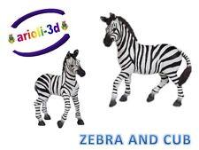 ZEBRA ADULT AND BABY CUB - PAPO - ZÈBRE WILD ANIMAL FIGURINENEW