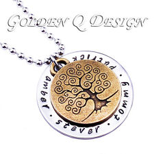 Personalised Any Name Vintage Family Tree Of Life Necklace Birthday Gift D207