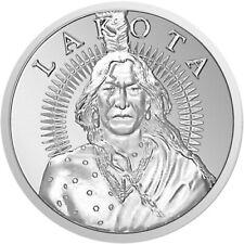 1 oz Silver .999 Fine Crazy Horse War Leader Native American Lakota Buffalo Coin