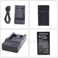 EN-EL19 USB Battery Charger For Nikon Coolpix S7000 S6500 S5200 S4100 Camera