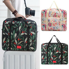 1xFloral Folding Travel Bag Weekend Holdall Luggage Sport Beach Holiday Shopping