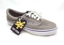 Zoo York Gray Classic Canvas Casual Skateboarding Shoes Sneakers Men's 8.5