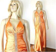 JESSICA McCLINTOCK Prom / Gala Dress Formal Gown Orange Satin / Jewels ~ Sz. 4