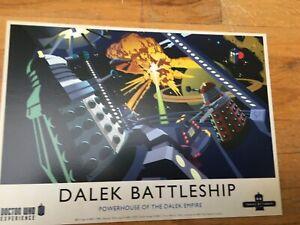 Dr Who Experience postcard Dalek Battleship - MINT