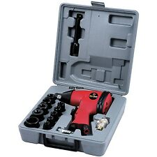 """17PC 1/2"""" AIR IMPACT TOOL SET WRENCH  & SOCKETS KIT IN BLOW MOULDED STORAGE CASE"""