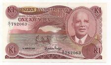MALAWI 1 KWACHA 1986 PICK 19 A UNC