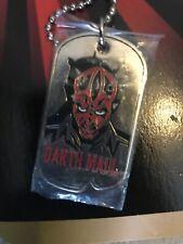 Rare! Nwt Star Wars Collector's Darth Maul Dog Tag Necklace