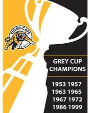 Hamilton Tiger- Cats Grey Cup Champions Wall Art Poster, 8x10 Color Photo