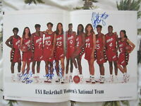 1996 US Olympic Womens Basketball Team autographed photo Azzi Lobo McCray McGhee