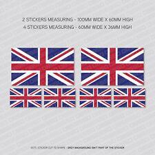 6 x British Uk Union Jack Flag Vinyl Stickers Decals Window Car Van - SKU5519