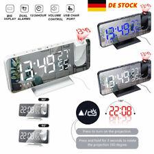 LED Digital Wecker Projektionswecker Temperatur Alarm Radio Projektor Funkuhr DE