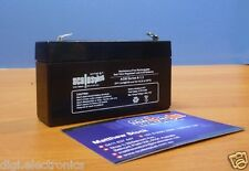 6V 1.3AH Rechargeable Valve Regulated Sealed Lead Acid Battery 20HR VRLA SLA 1.2