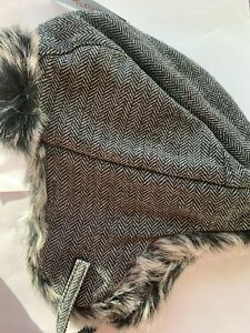 Cat & Jack Trapper Style Winter Hat Faux Fur Boys One Size Outdoor Cozy Soft