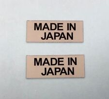 2 x MADE IN JAPAN Stickers/Decals 25mm Black on Silver - Printed & Laminated