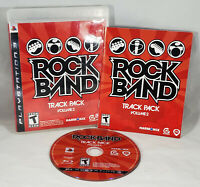 Rock Band Track Pack: Vol. 2 (Sony PlayStation 3, 2008) CIB Complete Working