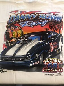 "NHRA DRAG RACING ""PRO MOD CAMARO SS"" DANNY ROWE T SHIRT   SIZE XL"