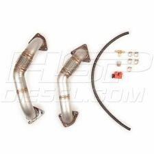 """HSP Diesel 2"""" Max Flow Replacement Up-Pipes For 2001-2010 Chevy GMC 6.6L Duramax"""