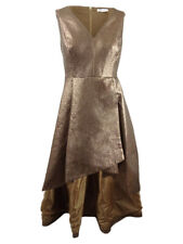 Calvin Klein Women's Plus Size Metallic High-Low Gown
