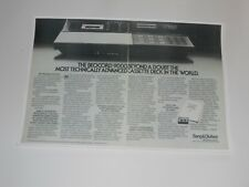 Bang & Olufsen Beocord 9000 Ultimate Cassette Ad, 2 Pages, 1982, Article + Info