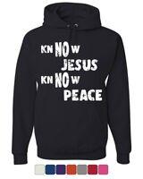 Know Jesus Know Peace Hoodie Religion Christian Catholic Faith Sweatshirt