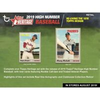 2019 Topps Heritage High Number Short Print Set All 25 SP's 701-725