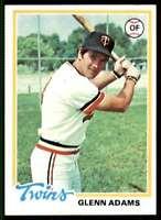 1978 Topps (78.2) Glenn Adams Minnesota Twins #497