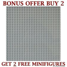 "Genuine LEGO brick-piece + 1 Grey 10x10"" Base plate compatible with LEGO 32x32"