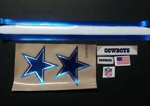 NFL Chrome Dallas Cowboys Blue Chrome Decal Set...ictx001