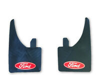 UNIVERSAL FIT FORD RS MUDFLAPS RED & WHITE (SET OF 4) ESCORT COSWORTH FOCU