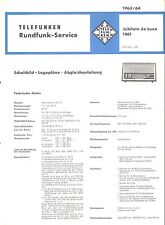 Telefunken Service Manual für Jubilate 1461 de Luxe