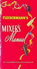 Fleischmann's Mixer's Manual Booklet 1948 Bartending Mixology