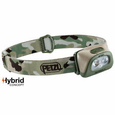 Petzl Tactikka Plus + Hybrid LED Head Torch Military Tactical Headlamp Camo MTP
