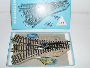 Lot 2. Marklin M Track 5214 Electric Triple point. HO. For 3 rail AC. Boxed