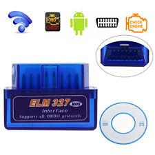 Mini ELM327 2.1V OBD2 II Bluetooth Car Auto Diagnostic Interface Scanner Tools
