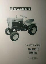 Bolens 600 800 900 1000 Lawn & Garden Tractor Transaxle Overhaul Repair Manual