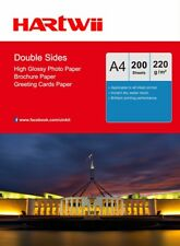 200 Sheets A4 220Gsm Double Sides High Glossy Photo Inkjet Paper Print AU Uinkit