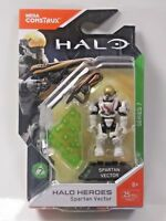 Halo Heroes Mega Construx Spartan Vector Micro Action Figure & Stand Series 7