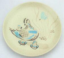 "MCM Mid Century Modern Red Wing Bob White 10"" Dinner Plate Bird Turquoise (064)"